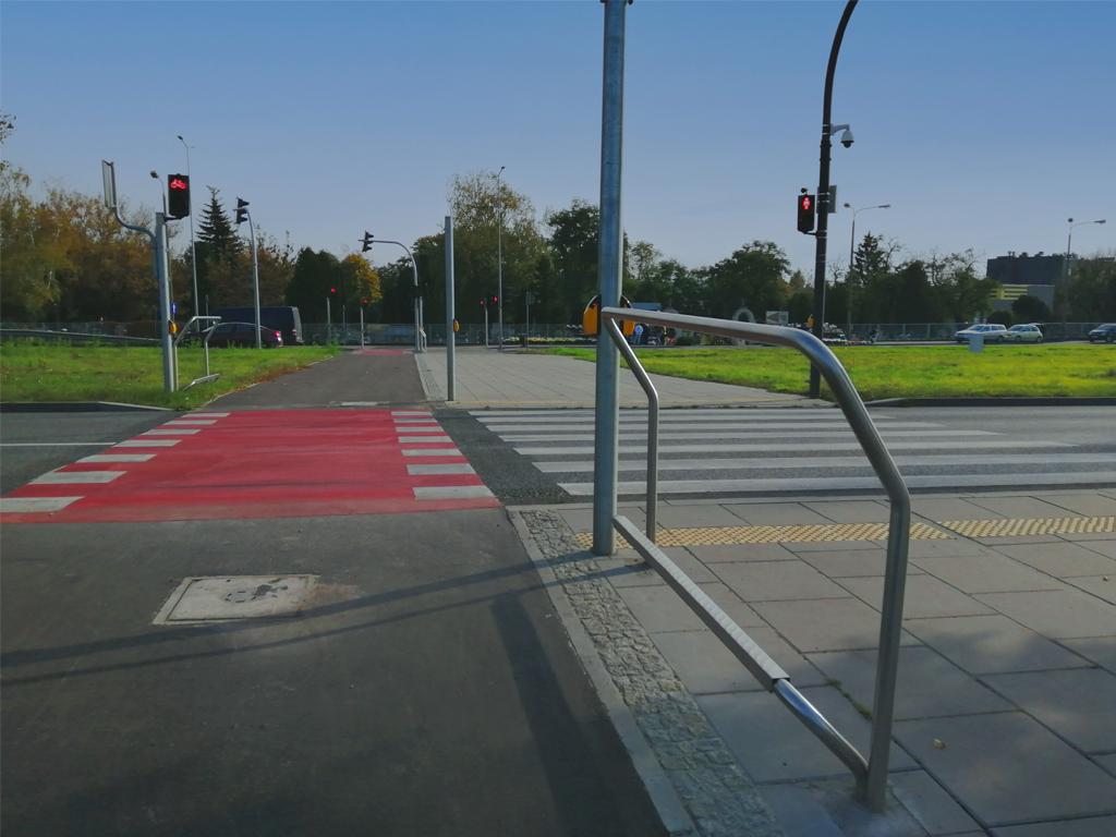 Podnóżki rowerowe przy ul. Armii Krajowej w Bydgoszczy