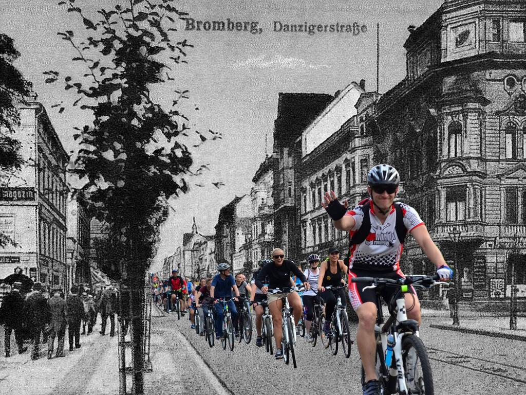 Archiwalne zdjęcia bydgoskich rowerzystów