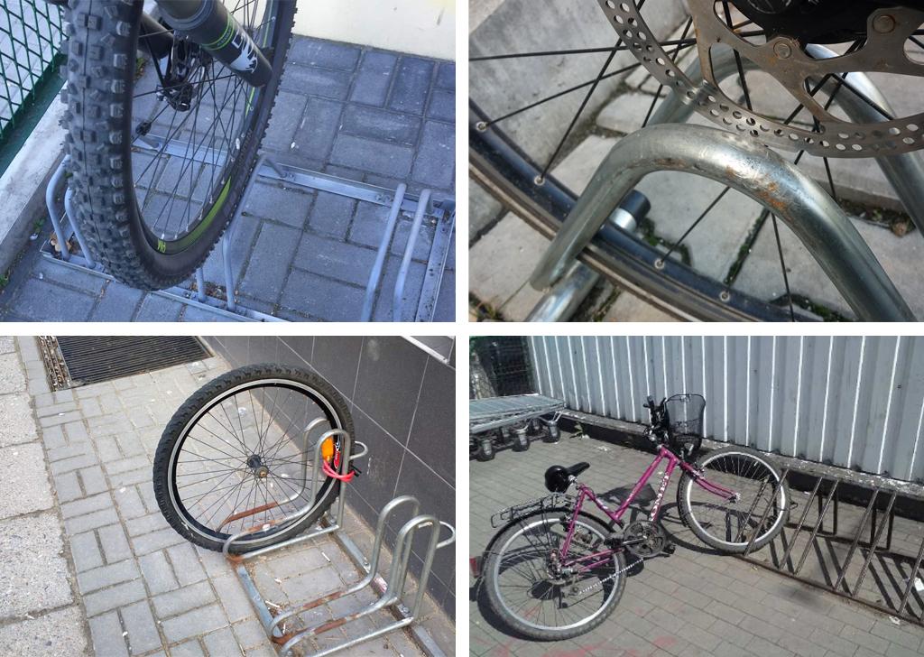 Zdjęcie potencjalnych uszkodzeń roweru powinno dawać odpowiedź na pytanie dlaczego wyrwikółka są złe